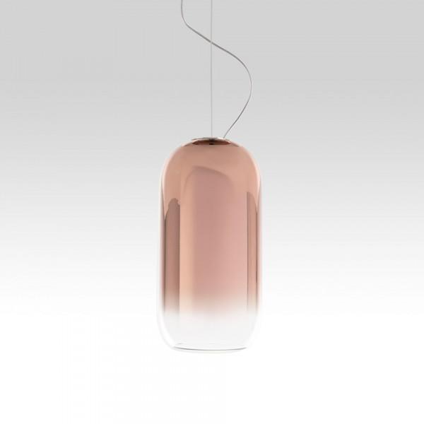 Gople Suspension lamp in blown glass 21W E27
