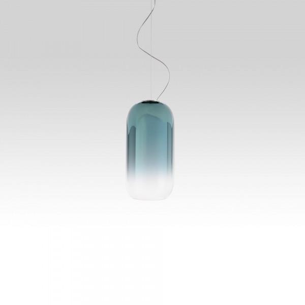 Gople Mini Suspension lamp in blown glass 6W E14