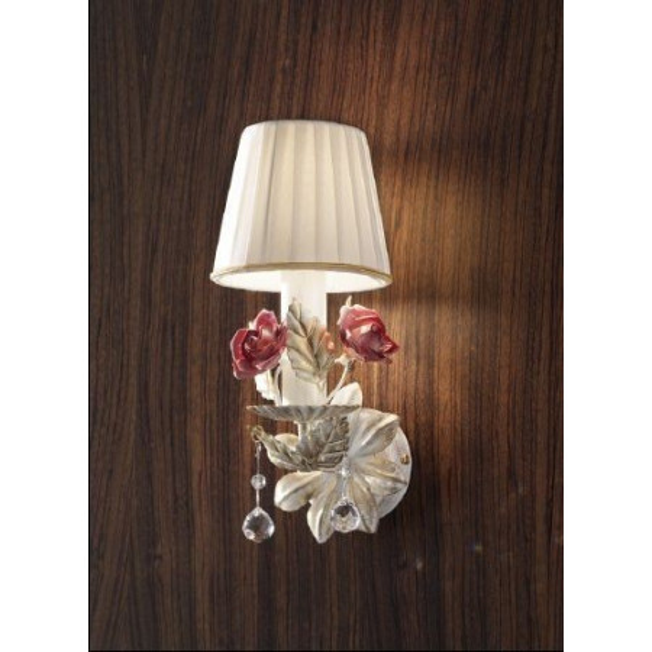 Ceramic Garden A1 Wall lamp lampshade in pongè 40W E14