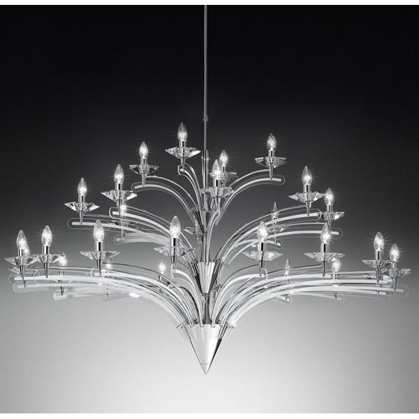 Icaro 28 lumières Lampe à suspension structure métallique 40W E14