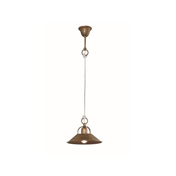 Cascina Small Suspension lamp in brass 46W E27