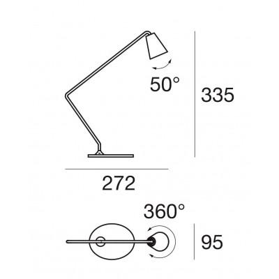 Conus TAB Small Table lamp Led 2W 3000K