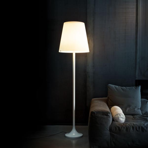 Diffuseur de lampadaire Lumen en verre soufflé blanc opalin satiné