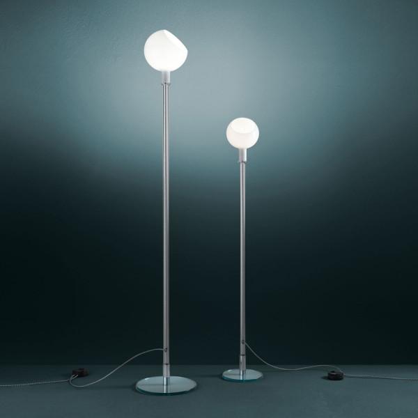 Parola, Parolona lampada da terra diffusore in vetro soffiato opalino 60W E14