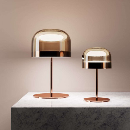 Equatore Small glossy copper Table lamp glass cap Led 25W 2700K - only 1 piece exposed in showroom