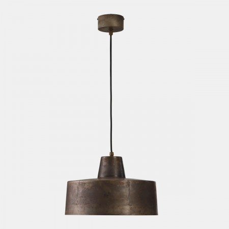 Officina Large 1 light Suspension lamp in iron 77W E27