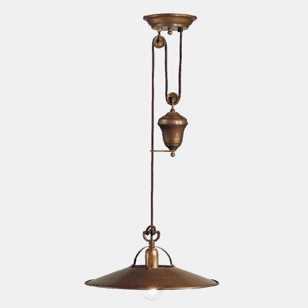 Poggio saliscendi metal Suspension lamp 77W E27