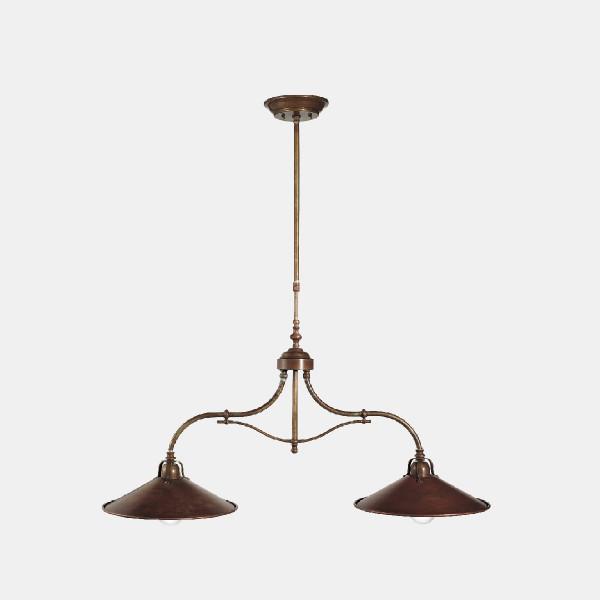 Lampe à suspension Poggio 2 lumières 77W E27