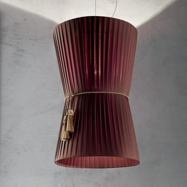 Caracas SP 8/500 lampada a sospensione diffusore in tessuto 77W E27