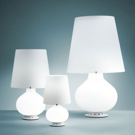 Fontana Small Table lamp in frosted white blown glass