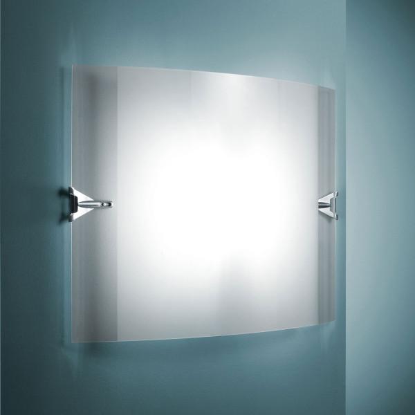 Velo 50 X 35 X 12 lampada da parete diffusore in vetro curvato e sabbiato 160W R7s
