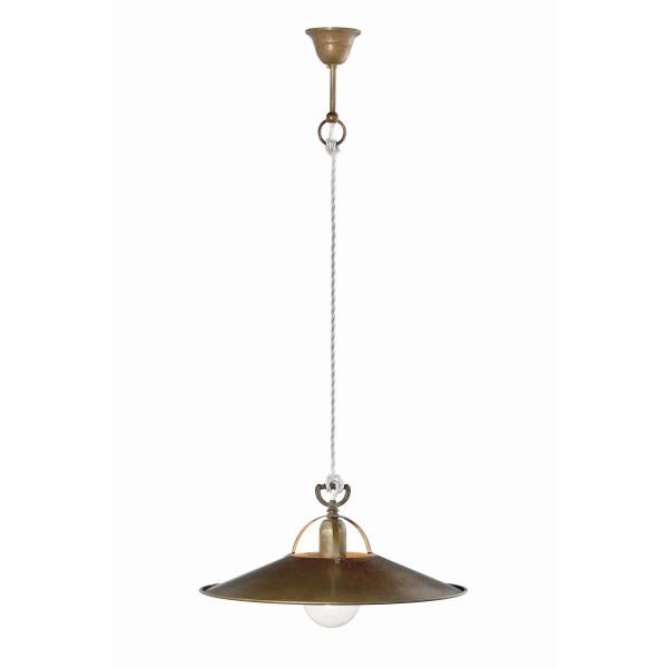 Lampe à suspension Poggio Conical en laiton et fer 77W E27