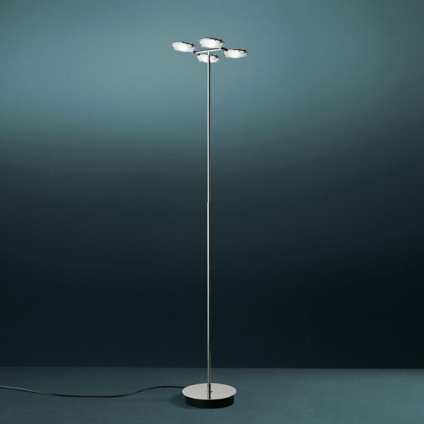 Nobi 4 lampada da terra diffusori in vetro satinato 120W R7s