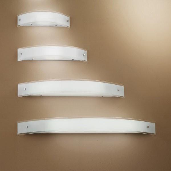 Mille L 18 lampada da parete in vetro serigrafato bianco 33W G9