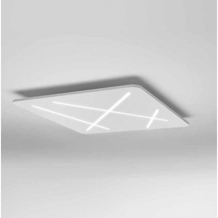 Next 7441 Ceiling/Wall lamp in thermoplastic white painted frame Led 46W 3000K