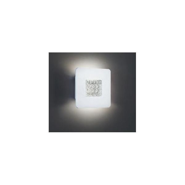 Roma A/P 20 lampada da parete/soffitto diffusore in vetro colato cristallo trasparente Led 9W 2700K