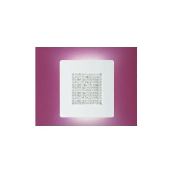 Roma A / P 33 applique / plafonnier diffuseur en verre moulé cristal transparent Led 25W 2700K
