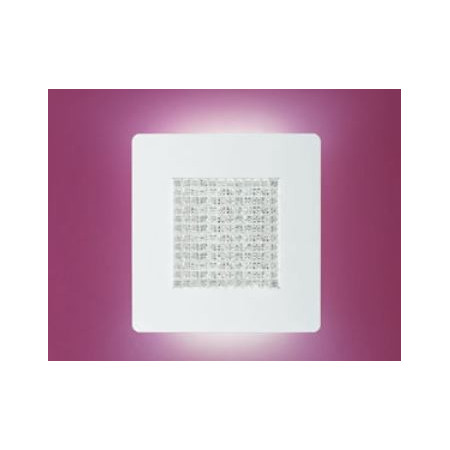 Roma A/P 33 Wall/Ceiling lamp shade in poured clear glass Led 25W 2700K