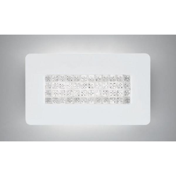 Diffuseur de plafonnier / mur Roma A / P 48-24 en verre transparent moulé en cristal LED 25W 2700K