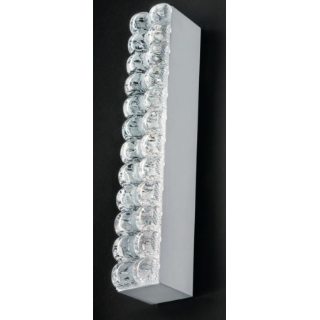 Roma A/P 4,5-24,5 Wall/Ceiling lamp shade in poured clear glass Led 13W 2700K