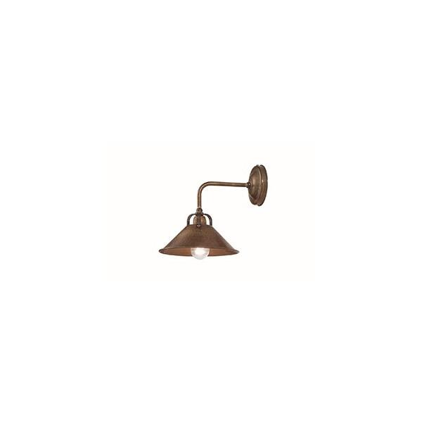Cascina lampada da parete in ottone 46W E14