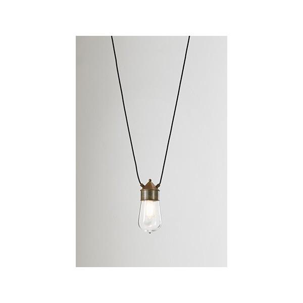 Drop con due cavi mt.3 lampada a sospensione IP55 in ottone, rame e vetro 57W E27