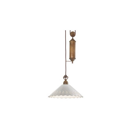 Fiori di Pizzo Saliscendi c/metallo Suspensione lamp made of ceramic and brass 77W E27