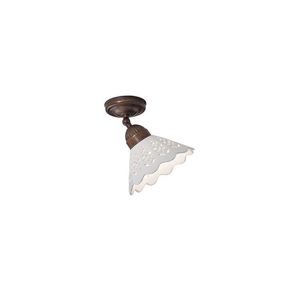 Fiori di Pizzo Piccola lampada da soffitto in ceramica e ottone 46W E27
