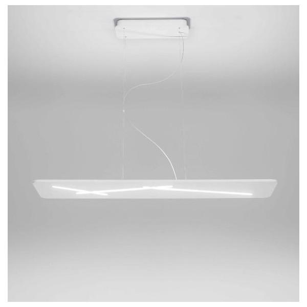 Next 7444 Structure de la lampe à suspension en matériau thermoplastique peint blanc Led 38W 3000K