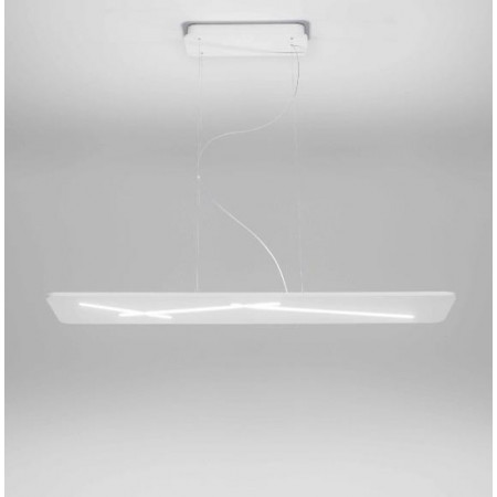 Next 7444 Suspension lamp in thermoplastic white painted frame Led 38W 3000K