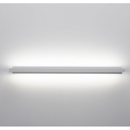 Tablet 7604 Wall lamp brass frame and PMMA diffuser Led 19W 3000K