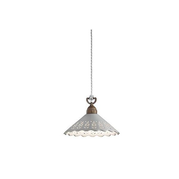 Fiori di Pizzo Grande lampada a sospensione in ceramica e ottone 77W E27