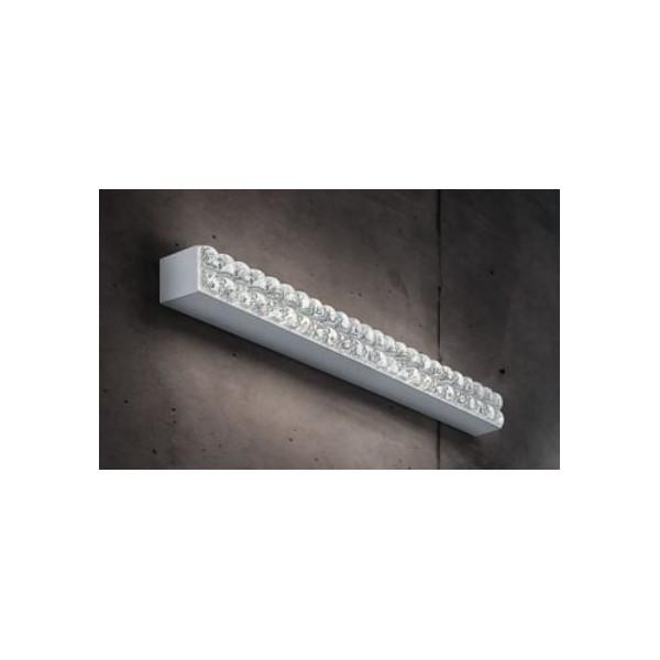 Roma A / P 4,5-48,5 applique / plafonnier diffuseur en verre transparent moulé en cristal LED 26W 2700K