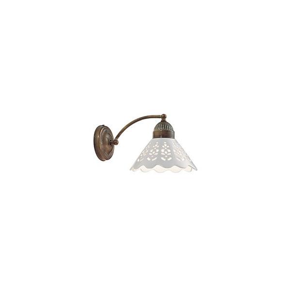 Fiori di Pizzo lampada da parete curvo in ceramica e ottone 46W E27