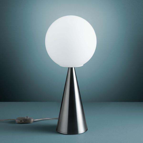 Bilia lampada da tavolo diffusore in vetro soffiato bianco satinato 42W E14