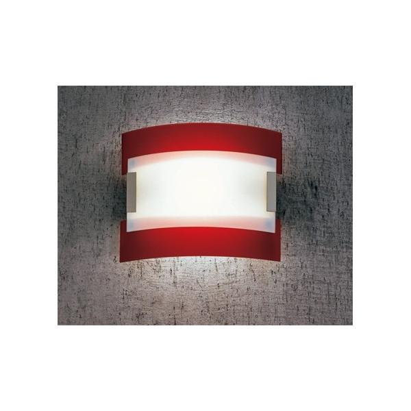 New York LP 6/232 A lampada da parete diffusore in vetro curvato 120W R7s