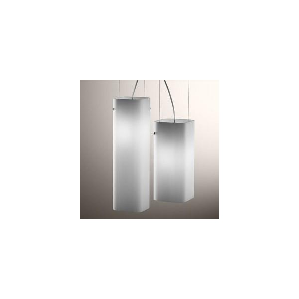 Carrè S1P lampada a sospensione diffusore in vetro bianco satinato 77W E27