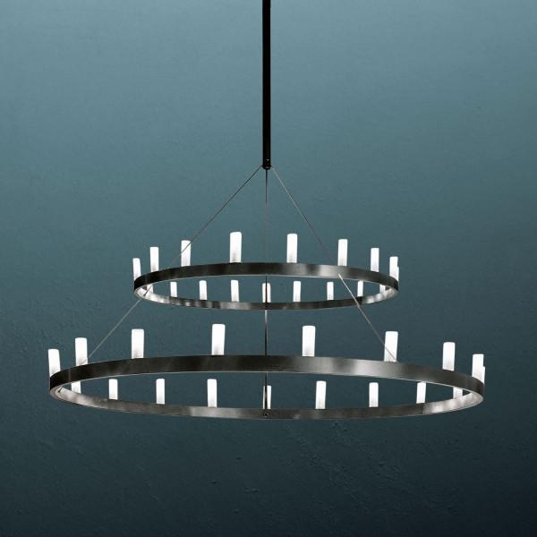 Lampe à suspension double lustre diam.150