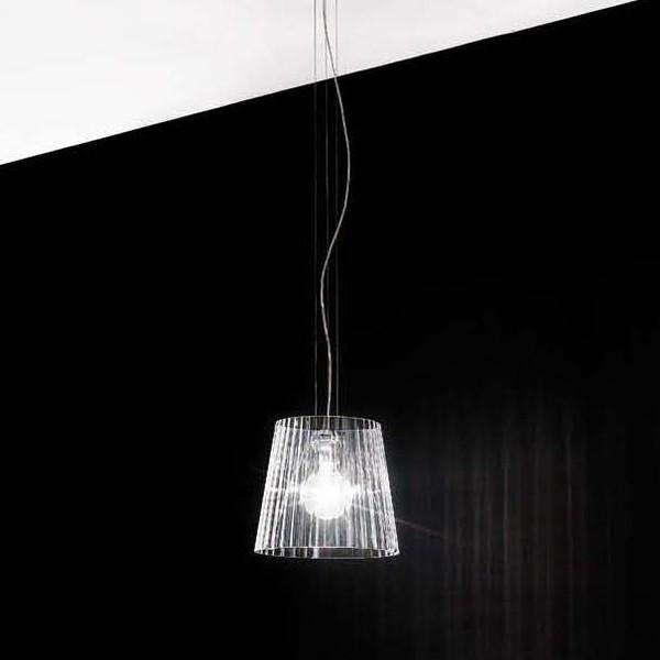 Lumè S1 lampada a sospensione diffusore in vetro cristallo soffiato 70W E27