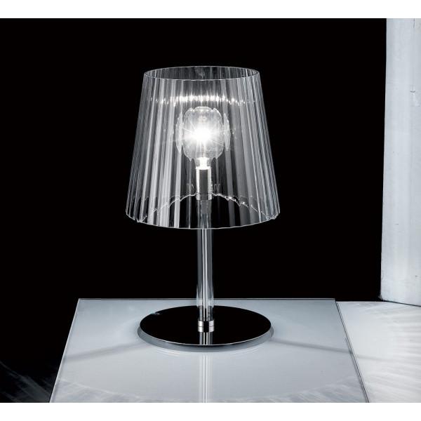 Lumè T1 lampada da tavolo diffusore in vetro cristallo soffiato 70W E27