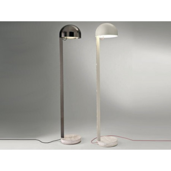 Juliette lampada da terra base in marmo nero Marquinia 15W E27