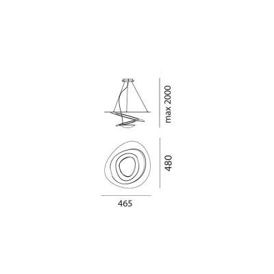 Artemide, PIRCE MICRO SUSPENSION LED, Suspension