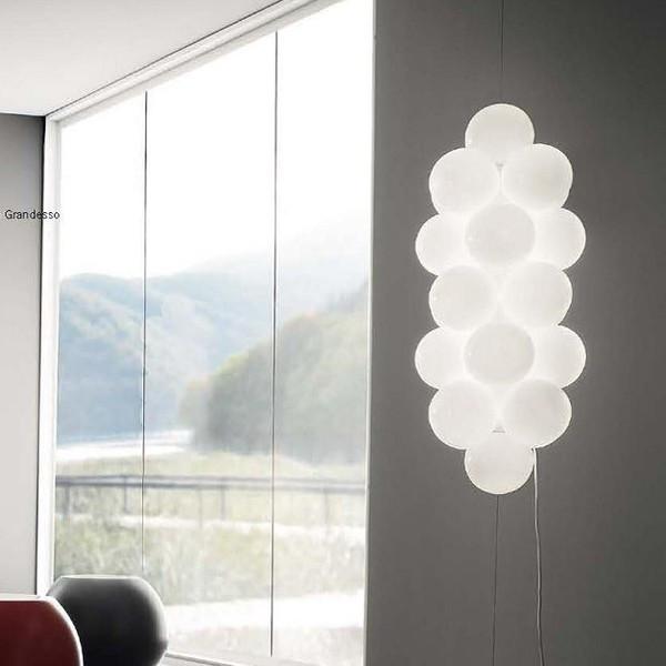 Diffuseurs de lampadaire Babol SV en verre blanc brillant 20W G9