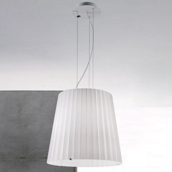 Lumé White Dream Suspension lamp milky-white glass shade 70W E27