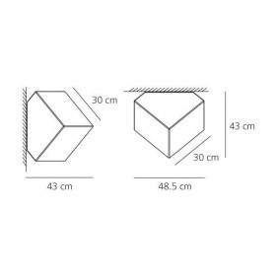 Artemide, EDGE 30 MUR / PLAFOND, Plafond