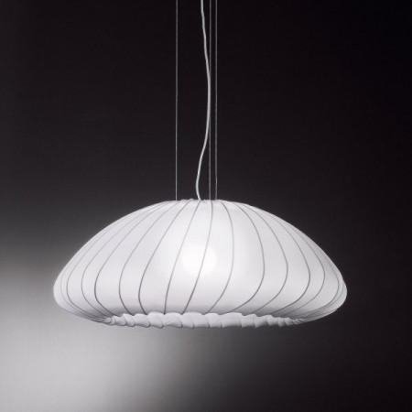 Lampe à suspension SP Muse revêtement en tissu stretch 116W E27