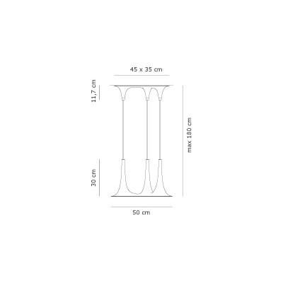 Axo Light , SP NAFIR 3, suspension