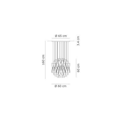 Axo Light,Suspension, SP AURA 60 FRAME POLISHED STEEL