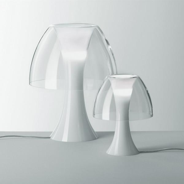 Lampe de table Oxygene LO en verre cristal transparent 46W E14