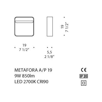De Majo, METAFORA A/P 19, Da Parete